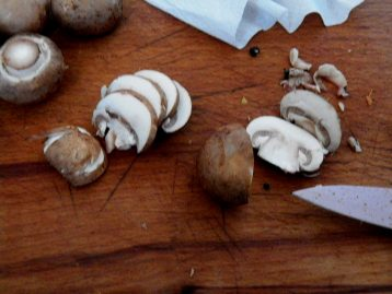 Do not wash the mushrooms, but remove the dirt with a knife and napkin.