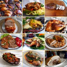 Collection of meat dishes for a festive table