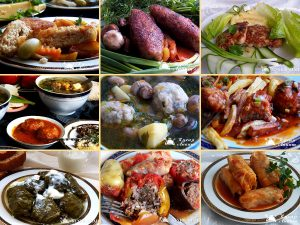 Collection of minced meat dishes
